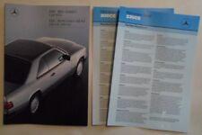 MERCEDES BENZ 230CE & 300 CE COUPES orig 1987 1988 UK Mkt Sales Brochure + Specs