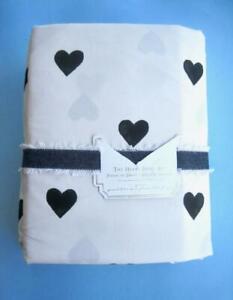 Pottery Barn Teen The Heart Sheet Set Queen Emily & Meritt Black White NWT