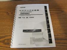 Toshiba DKR40KU operating instructions user owner's manual
