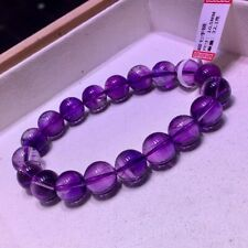 Melody Amethyst Crystal Round Beads Bracelet 9.8mm Natural Brazil Super Seven 7
