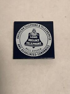 "Vintage Bell System - American Telephone & Telegraph (AT&T) 1.5"" Square  Magnet"