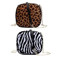 Simple Casual Leopard Print Small Bags Fashion Girls Shoulder Messenger Bag J7F8