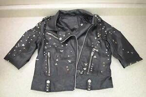 BLANKNYC Denim Studded Faux Leather Moto Jacket - Vegan - West Side - R3A