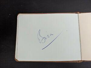 Prince Bira Hand Signed Autograph c. 1952 VERY RARE