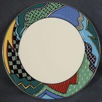 Christopher Stuart Rave HK100 Dinner Plate Optima Multicolor Rim (B) Please Read