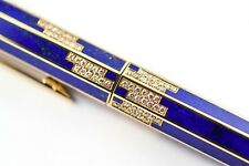 BOUCHERON LAPIS LAZULI 18K SOLID GOLD w/ DIAMONDS FOUNTAIN PEN - RARE