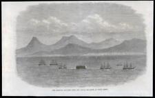 1869 Antique Print - MADEIRA PORTO SANTO BERMUDA FLOATING DOCK NAVY SQUAD (181)