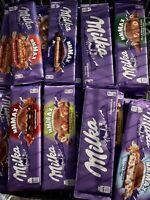 5 verschiedene Sorten Milka Schokolade 270-300Gramm Groß Schokolade Groß Tafel