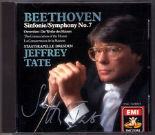 Jeffrey TATE Signiert BEETHOVEN Symphony No.7 Die Weihe des Hauses CD Sinfonie