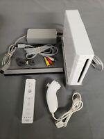 Nintendo Wii Console White Bundle + Controller + nunchuck OEM Gamecube Authentic