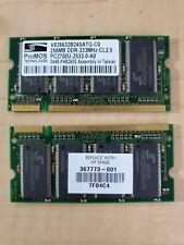 ProMOS PC-2700 256 MB (x2) DIMM 333 MHz DDR SDRAM Memory (HP 367773-001 7F04C4)