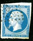 Timbre de France classique, Napoléon n°14A Obl PC petit chiffre 3734 Algérie