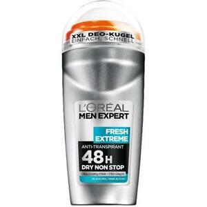 6 x Loreal Men Expert Deodorant Roll-on Fresh Extreme 48h Anti-Transpirant
