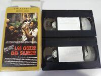 Los Gritos del Silencio + Platoon Oliver Stone Roland Joffe 2 X VHS Nastro