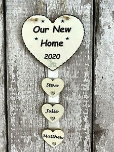 Personalised Our 1st Home-New Home-House Warming Gift Hand Made Plaque 2 Names
