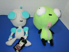 Lot of 2- Invader Zim Dog Gir & Robot Plush Toy Doll 2002 W/ Tags