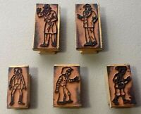 5💥RUBBER STAMP💥Dick Tracy💥Jr Tracy💥Spike💥Chink💥Warbucks💥1940s Vintage