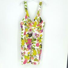 Trina Turk Womens adjustable strap Floral Print Dress Size 14 New with tags