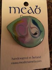 Ireland Meab Enamels Multi Color Women's Pin Brooch Handcrafted in