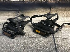 NEW Wellgo Pedals,  Toe Clips, Straps, 9/16 NOS