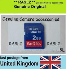 2GB Tarjeta de memoria SD para Cámara Digital Panasonic Lumix TZ LX FZ Serie Fs