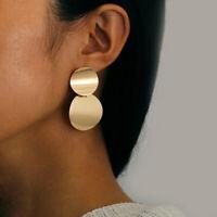 le donne colore oro argento geometriche goccia orecchino cerchio dichiarazione