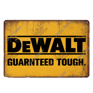 Dewalt Power Tools Metal Sign - Advertising signs, Decor for Store Shop Workshop