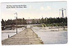THE PIER AND DANCING PAVILION--EUCLID BEACH-----CLEVELAND OHIO---1915 POSTCARD