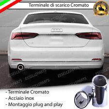 TERMINALE SCARICO CROMATO LUCIDO ACCAIO INOX AUDI A5 F53 IN STILE S-LINE RS5