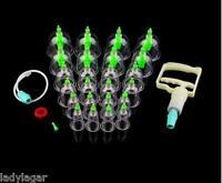 set kit 24 ventosas cupping masaje acupuntura vacuum terapia con 8 imanes