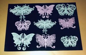 18 Large 3D Edible Cake Lace Butterflies 2 of Each Design.
