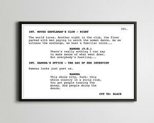 """HUSTLERS Screenplay POSTER! (up to 24"""" x 36"""") - Film - Movie - Lopez - Lizzo"""