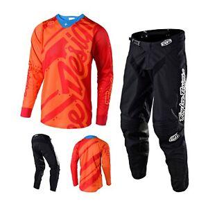 Troy Lee Designs Shadow Combo Orange Black Trousers MX Shirt Enduro Motocross