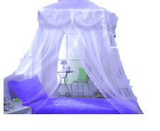 PURPLE TRI-LACE PRINCESS four corner BED CANOPY MOSQUITO FREE SHIPPING FROM USA