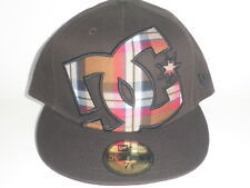 DC Shoes New Era 59Fifty HEDLAND Hat Brown Plaid 7 1/4 ($35) Cap Skate Moto Fit
