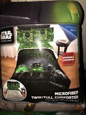 "Star Wars Rogue One Twin / Full Comforter 72"" X 86""  Kids New Black New"