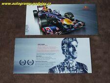 Mark WEBBER - 2011 Red Bull Karte/card, 10x21 cm