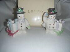 lenox the snowman candle sticks 1999 original box never used