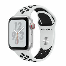 Apple Watch Series 4 Nike+ 40 mm Silver Aluminum Case with Pure Platinum/Black Nike Sport Band (GPS + Cellular) - (MTV92LL/A)