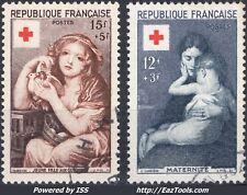 FRANCE CROIX ROUGE N° 1006/1007 AVEC OBLITERATION
