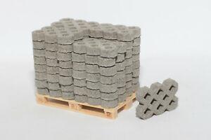32 Stk Beton Rasengittersteine 1:14,5 - 1:18 für Modellbau | Diorama Ladegut