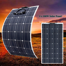 100w Waterproof Solar Panel flexible Photovoltaic For Caravan Boat Home Camping