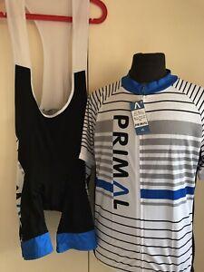 PRIMAL Wear Cycling Kit PRISMA Bib Shorts & RAGLAN RACE CUT Jersey SZ 2Xl