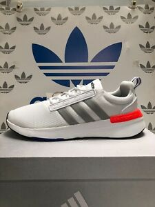 NEW ADIDAS Racer TR21 Men's Running shoes, Color - White/Grey/Solar Red, GZ8191