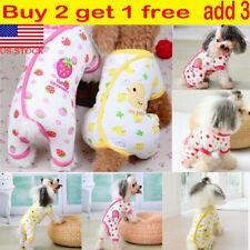 Pet Dog Warm Cotton Pajamas Clothes Puppy Cats Jumpsuit Coat Appare Winter Dress