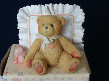 Cherished Teddies - Mandy - Bear On Pillow Figurine - 950572 - 1991