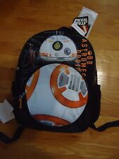 "NWT Star Wars BB-8 16"" School Kids Backpack BB-8 WITH SOUNDS/LIGHTS"