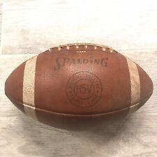 Vtg Official Leather College Football Spalding H5-V Triple Lined