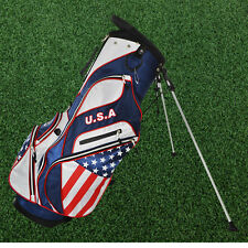 Hot-Z Golf US Flag Carry & Stand Bag w/Rain Cover Full Length Dividers NEW