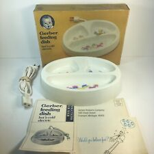 Vintage Gerber Electric Hot n' Cold Feeding Dish w/ Original Box & Manual